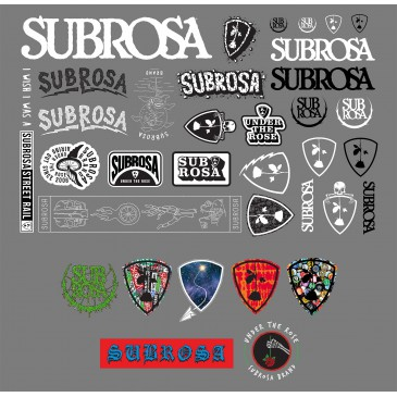 PACK STICKERS SUBROSA 2017