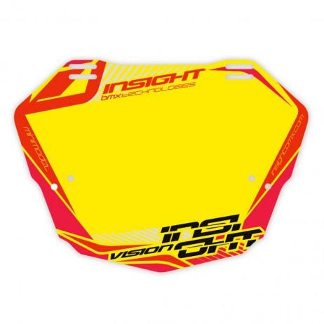 PLAQUE BMX RACE INSIGHT MINI NOIR / JAUNE
