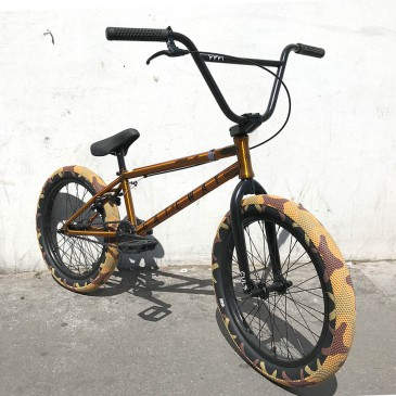 BMX CULT CUSTOM TRANS GOLD / CAMO 20.5""