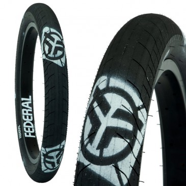 PNEU BMX FEDERAL COMMAND LP BLACK WITH LOGOS