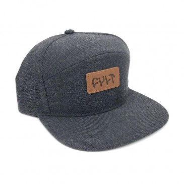 CASQUETTE CULT 6 PANEL CHARCOAL