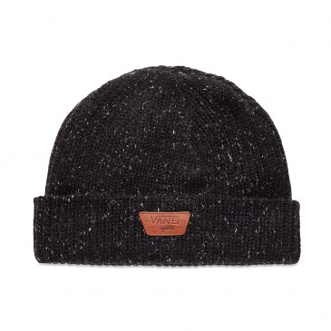 BONNET VANS BLACK PATCH CUIR