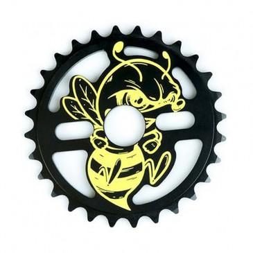 COURONNE BMX TOTAL BMX KILLABEE BLACK YELLOW