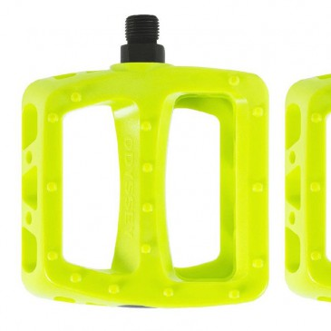 PEDALES BMX ODYSSEY TWISTED PRO NEON YELLOW