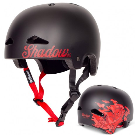 CASQUE SHADOW BMX FEATHERWEIGHT BURNETT MATTE BLACK (IN MOLD)