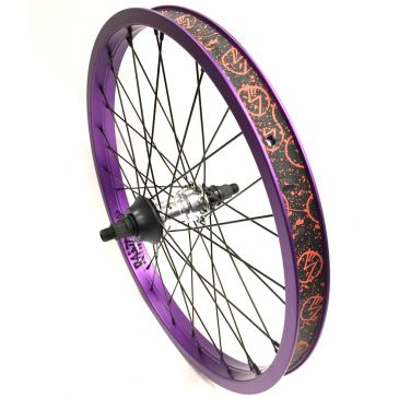 ROUE AVANT BMX CUSTOM SHADOW SYMBOL CHROME X RANT SQUAD PURPLE