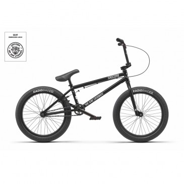 "BMX RADIO BIKE DARKO MATT BLACK  21"" 2019"