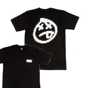 TSHIRT BSD PIXELATE BLACK