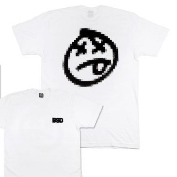 TSHIRT BSD PIXELATE WHITE