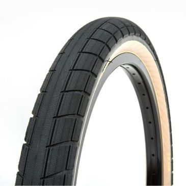 BMX TIRE BSD DONNASQUEAK BLACK TAN WALL