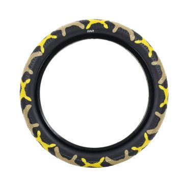BMX TIRE CULT VANS YELLOW CAMO