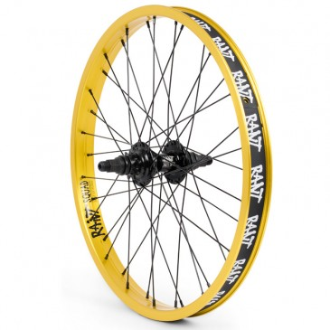 ROUE ARRIERE RANT PARTY ON V2 CASSETTE MATTE GOLD (RHD ou LHD)