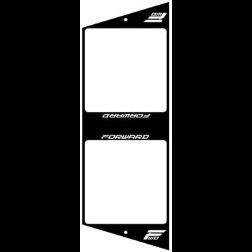 PLAQUE DE CADRE BMX RACE FORWARD XL NOIR