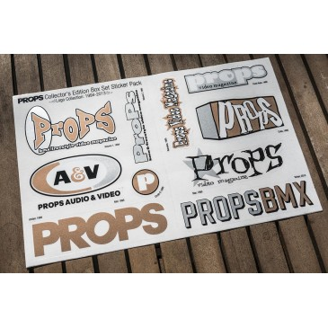 STICKERS SHEET PROPS COLLECTOR