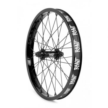 "FRONT BMX WHEEL 18"" RANT PARTY ON V2 BLACK"
