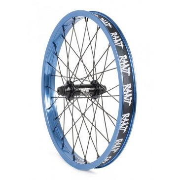 "FRONT BMX WHEEL 18"" RANT PARTY ON V2 BLUE"