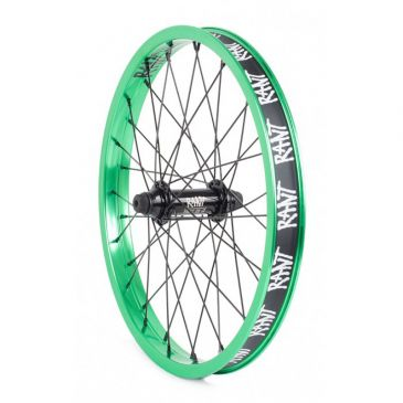 "FRONT BMX WHEEL 18"" RANT PARTY ON V2 REAL TEAL"