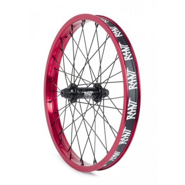 "FRONT BMX WHEEL 18"" RANT PARTY ON V2 RED"