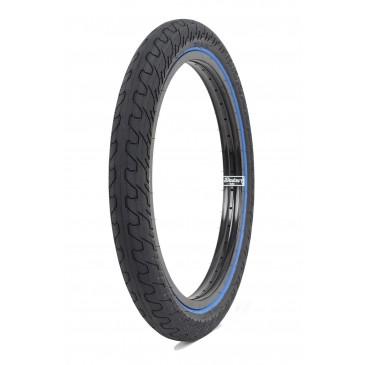 BMX TIRE RANT SQUAD BLACK BLUE LINE