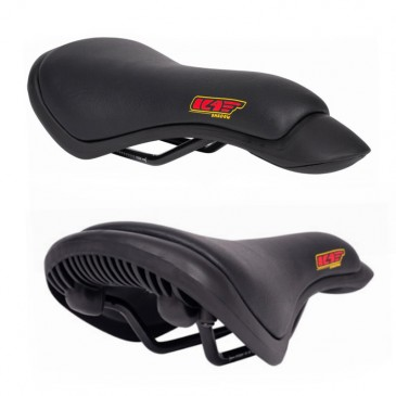 BMX SEAT PIVOTAL SHADOW CROW LEATHER MID BLACK