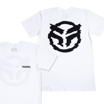 T-SHIRT FEDERAL GLITCHED WHITE