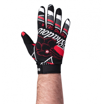 SHADOW CONSPIRE UHF GLOVES (BLACK RED WHITE)