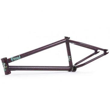 BMX FRAME FIEND GARRET REYNOLDS V2 MERLOT/WHITE SPLATTER