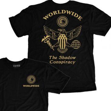 TSHIRT SHADOW WORLDWIDE BLACK