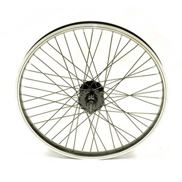 ROUE ARRIERE BMX GENERIQUE 48 RAYONS AXE 14MM