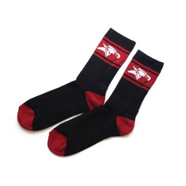 CHAUSSETTE ANIMAL BLACK RED
