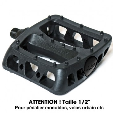 """PEDALE BMX ODYSSEY TWISTED / ATTENTION TAILLE : 1/2"""" (PAS CLASSIQUE)."""