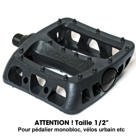 "PEDALE BMX ODYSSEY TWISTED / ATTENTION TAILLE : 1/2"" (PAS CLASSIQUE)."