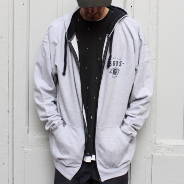 VESTE ZIP BROS EYE LIGHT GREY/DARK NAVY