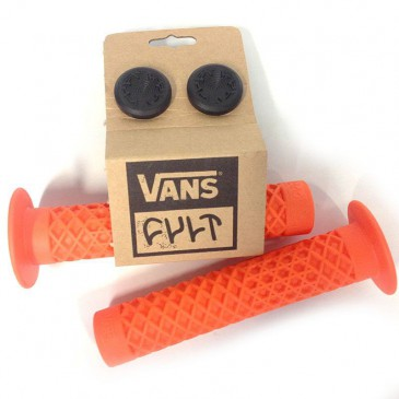 POIGNEES BMX CULT VANS ORANGE AVEC FLANGES