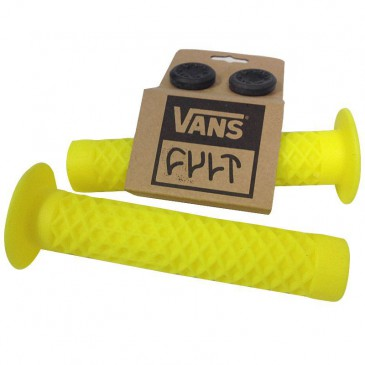 POIGNEES BMX CULT VANS LUMINOUS YELLOW AVEC FLANGES