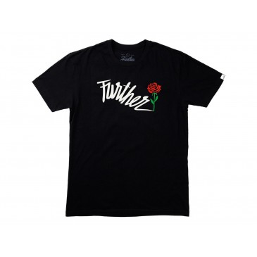 TSHIRT FURTHER SHOCK ROSE BLACK
