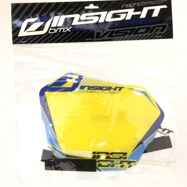 PLAQUE BMX RACE INSIGHT MINI BLEU / JAUNE