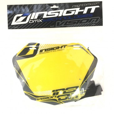 PLAQUE BMX RACE INSIGHT PRO NOIR / JAUNE