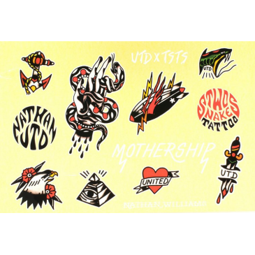 PLANCHE DE STICKERS UNITED X TWO SNAKES TATTOO