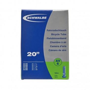 CHAMBRE A AIR SCHWALBE SCHRADER 20 X 1.1/8
