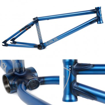 CADRE BMX SUBROSA MR1  (MATT RAY) SATIN TRANS BLUE