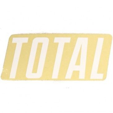 STICKER TOTAL BMX NEW STYLE WHITE (UNITE)