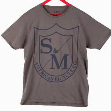 TSHIRT S&M SHIELD COOL GREY
