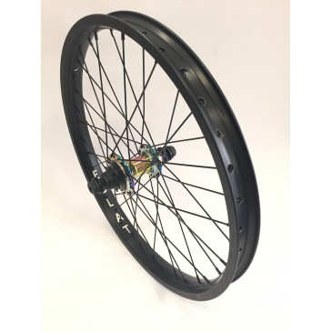 ROUE ARRIERE BMX CUSTOM WASP OIL SLICK X ECLAT CAMBER BLACK