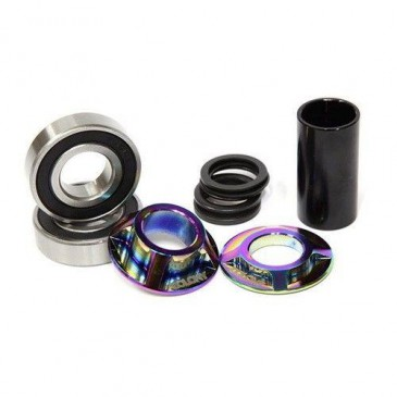 ROULEMENTS DE PEDALIER TOTAL BMX MID RAINBOW 19 ET 22mm
