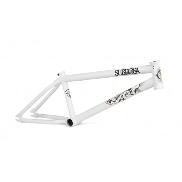 CADRE BMX SUBROSA WILD CHILD MATTE WHITE ( TREY JONES )