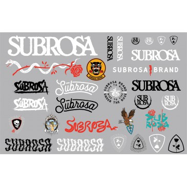 PACK STICKERS SUBROSA 2018