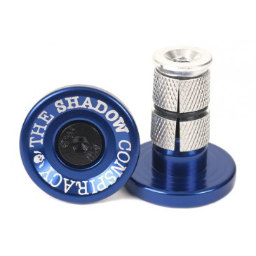 EMBOUTS GUIDON BMX SHADOW DEADBOLT ALU BLUE