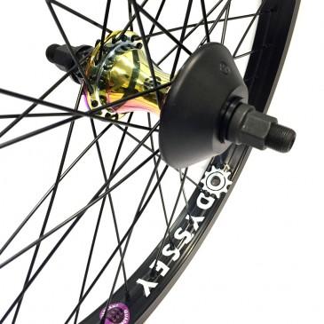 ROUE ARRIERE BMX CUSTOM ECLAT TRIPPIN XL X SALT TRAPEZ CHROME