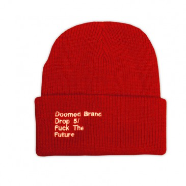 BONNET DOOMED FUCK THE FUTURE RED